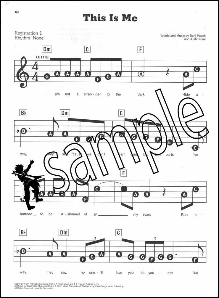 The Greatest Showman E-Z Play Today Keyboard Sheet Music