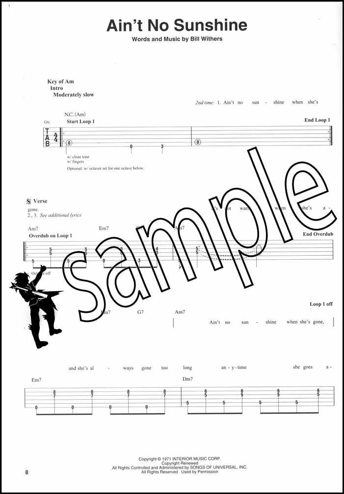 Looper Pedal Songbook Guitar Vocal TAB Chord Melody Song