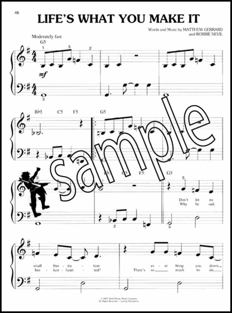 Hannah Montana 2 Meet Miley Cyrus Big Note Piano Very Easy
