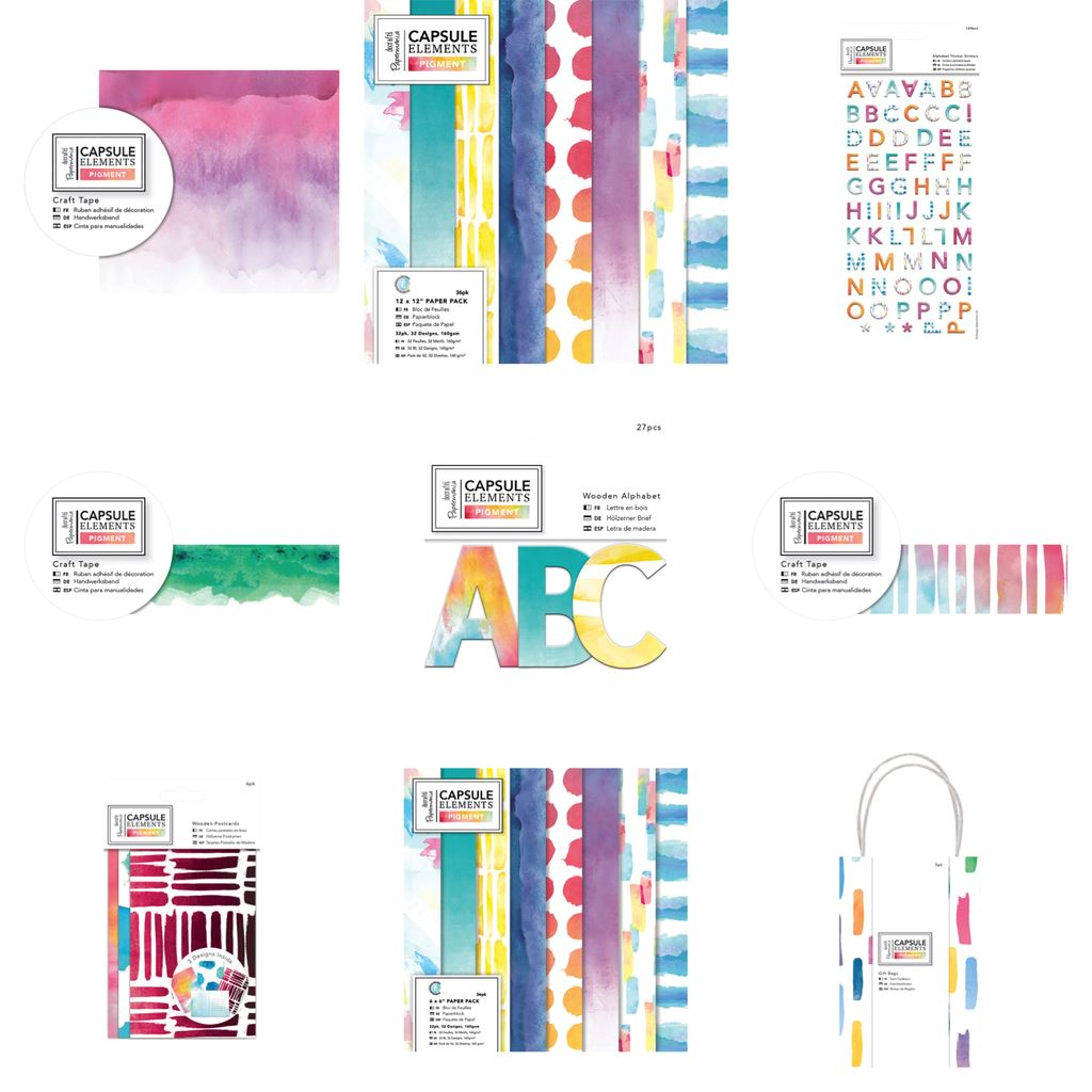 Clearance Papermania Capsule Elements Pigment Paper Craft Collection Range Ebay