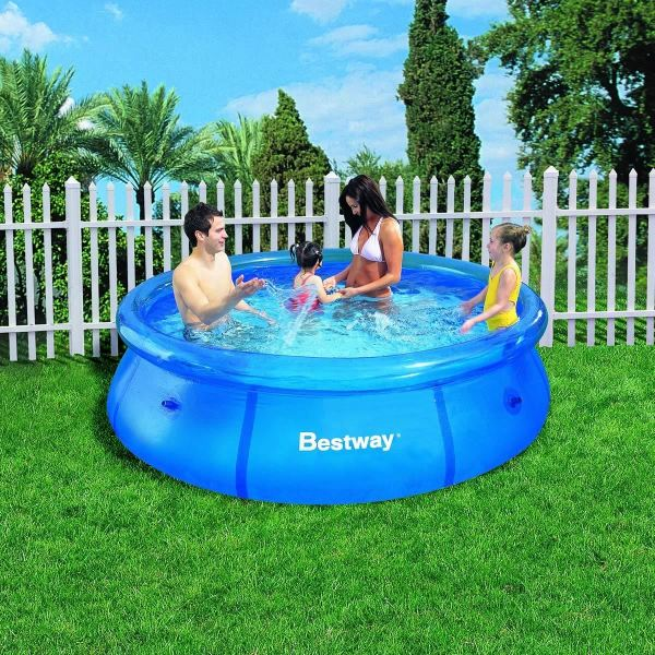 Easy Set Inflatable Swimming Paddling Pool 6 8 10 Ft Cover