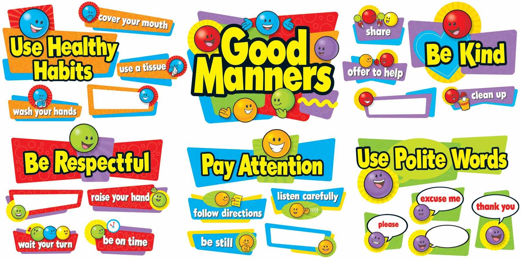 Good Manners Bulletin Board Large Classroom Display Banner