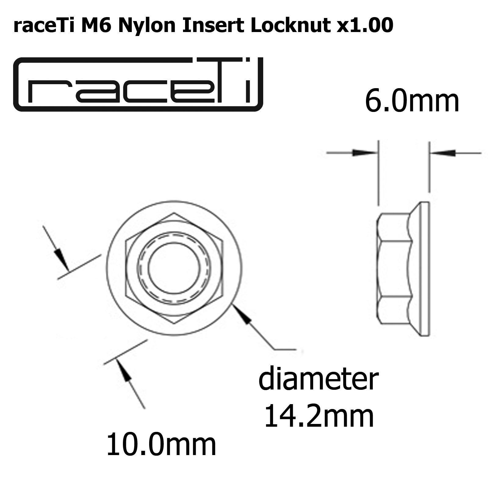 M5 M6 M8 M10 M12 Titanium Nyloc Lock Nut Locking Flange Ti 1 5 Amp 1 25 Nylon