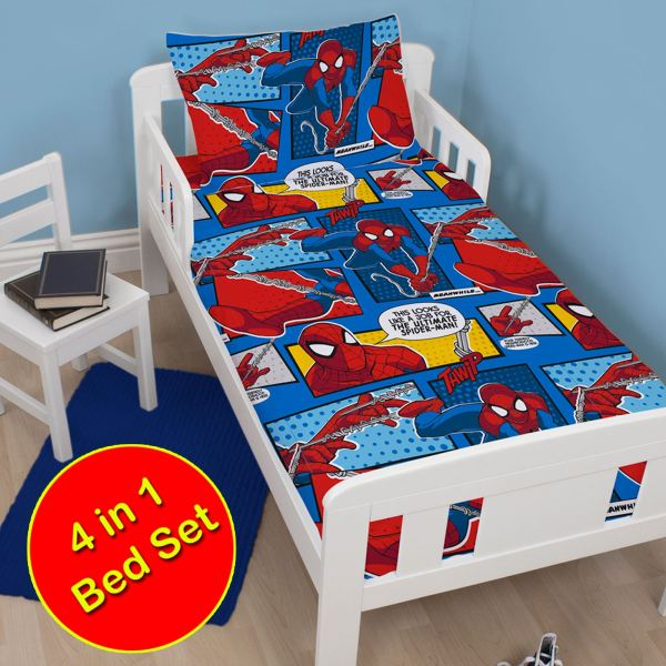 Marvel Spiderman Duvet Cover Sets Kids Boys Bedding
