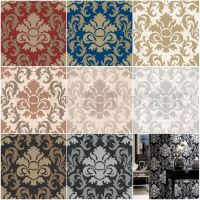 P&S CARAT DAMASK GLITTER WALLPAPER - FEATURE WALL DECOR ...