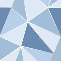 FINE DECOR APEX GEOMETRIC METALLIC WALLPAPER FEATURE WALL ...