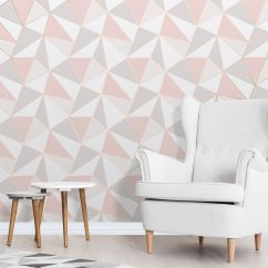 Cardboard Sofa New Leaf 18 Inch Doll Diy Apex Geometric Wallpaper Rose Gold Pink Fine Decor