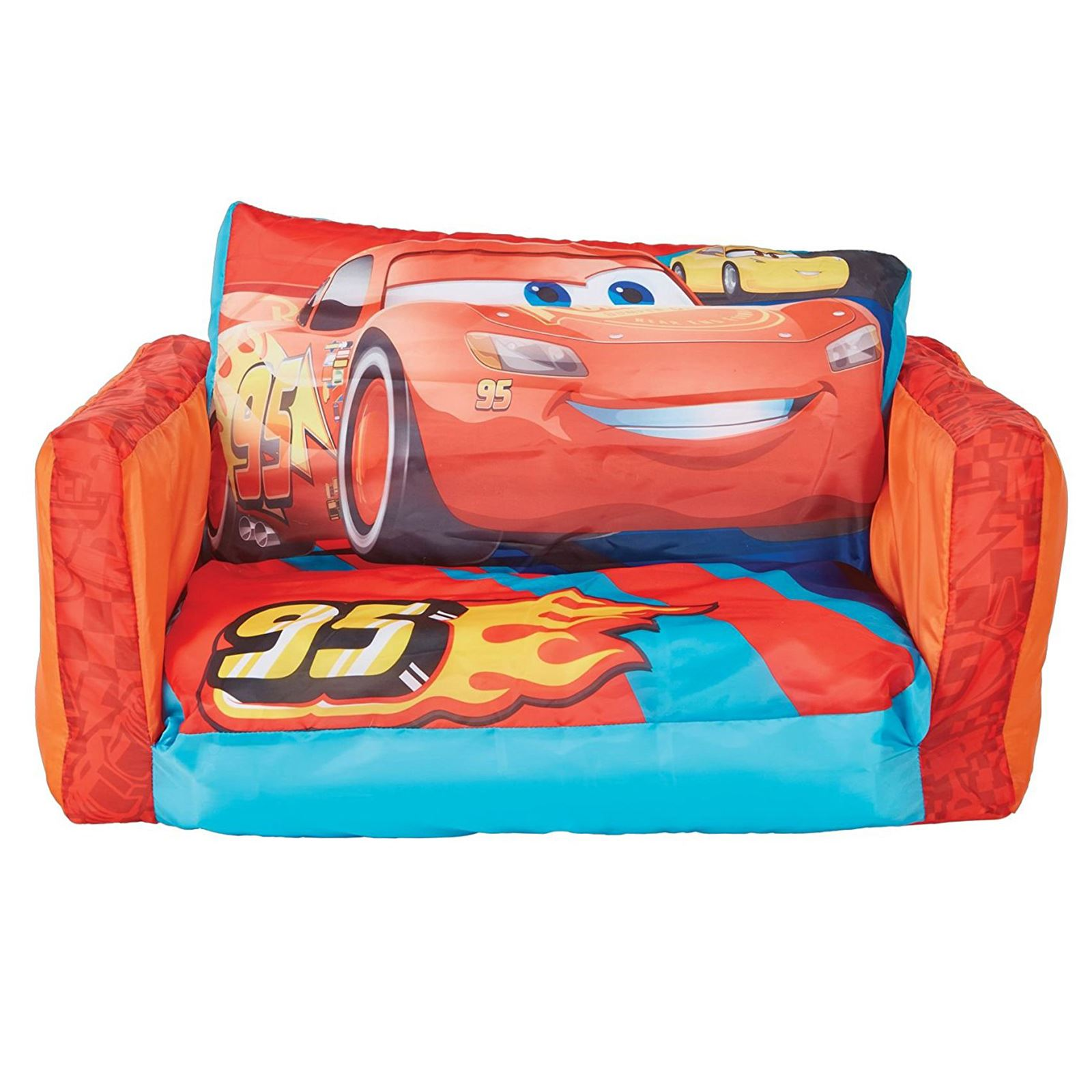 disney cars flip out sofa australia ikea malaysia price 3 lounger 2 in 1 inflatable kids childrens