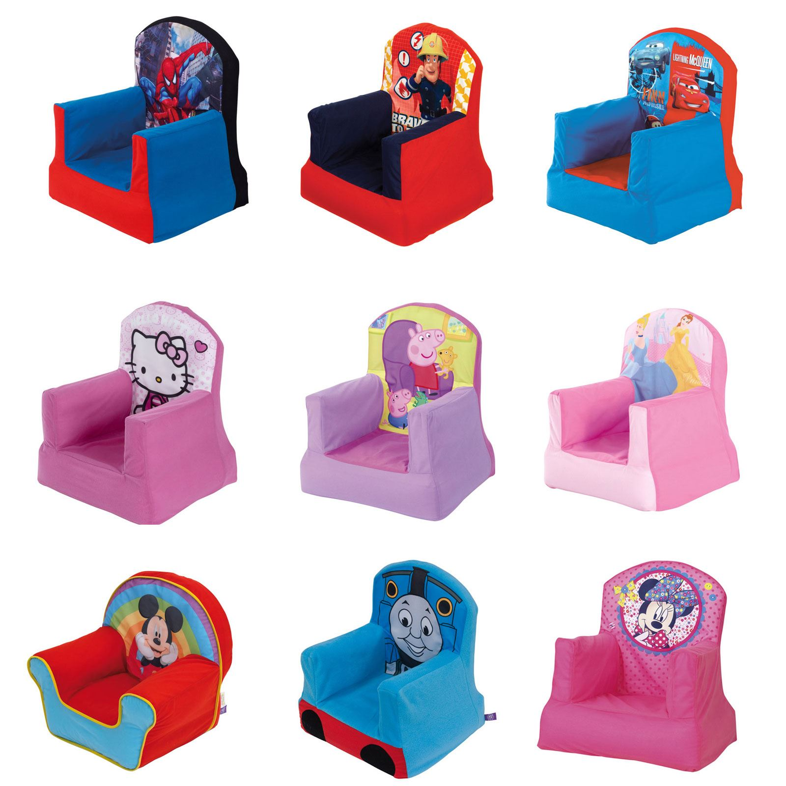 soft chairs for toddlers desk chair ratings official disney and character childrens cosy