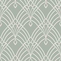 RASCH ASTORIA ART DECO GEOMETRIC WALLPAPER GLITTER SILVER