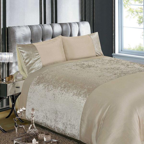 Luxury Embellished Duvet Cover Sets Diamante Velvet