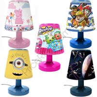 DISNEY & CHARACTER KIDS BEDROOM BEDSIDE LAMPS FOR BOYS AND ...