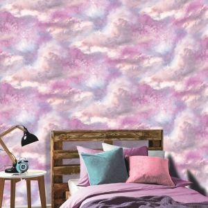 bedroom unicorn glitter mermaid wallpapers galaxy cloud arthouse purple space tapeten farben horses