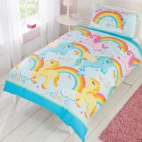 GIRLS SINGLE DUVET COVER SETS BEDDING UNICORN FLOWER HORSE ...