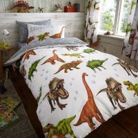 DINOSAUR DESIGN SINGLE & DOUBLE DUVET COVER SETS BOYS ...