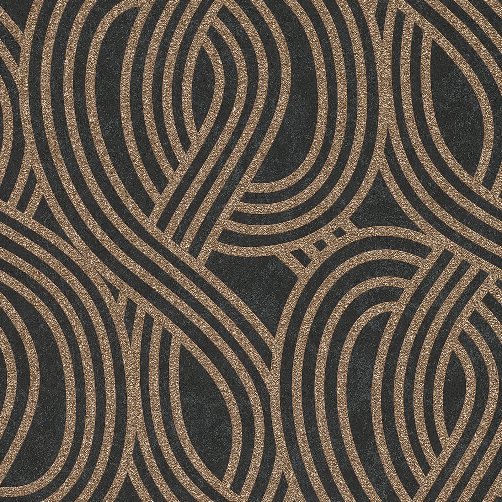 Tapete Schwarz Tapete Vlies Rauten Schwarz Grau Rasch Textil 148667