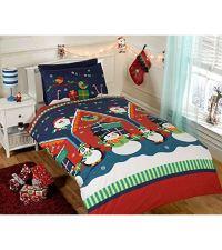 CHRISTMAS DUVET COVER SETS SNOWMAN SANTA REINDEER EMOJI ...