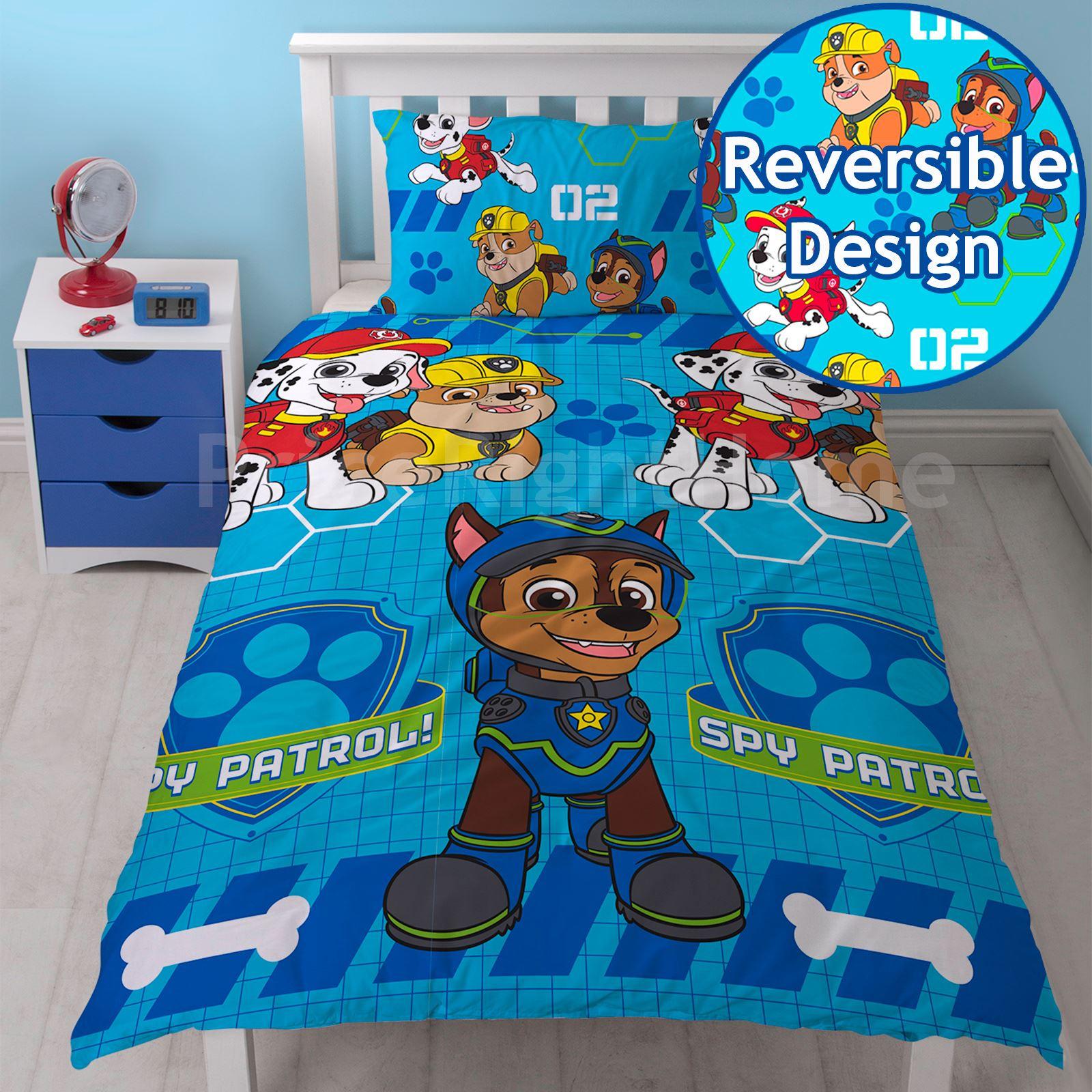 PAW PATROL OFFICIAL DUVET COVER SETS BEDROOM BEDDING BOYS