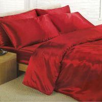 Satin Bedding Sets - 6 Piece Set - Duvet Cover + Fitted ...