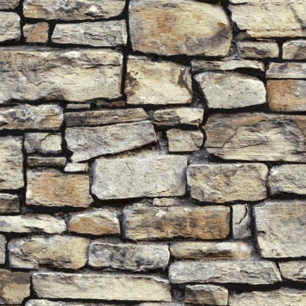 Arthouse Rustic Stone Effect Wallpaper - Brick Morrocan