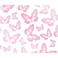 GIRLS BEDROOM BUTTERFLY WALLPAPER IN PINK, WHITE, TEAL ...