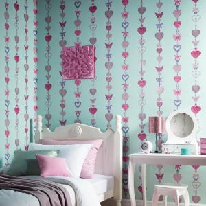 glitter bedroom wall arthouse feature duck egg heart unicorn stars themed tiffany stripe chic accessories west