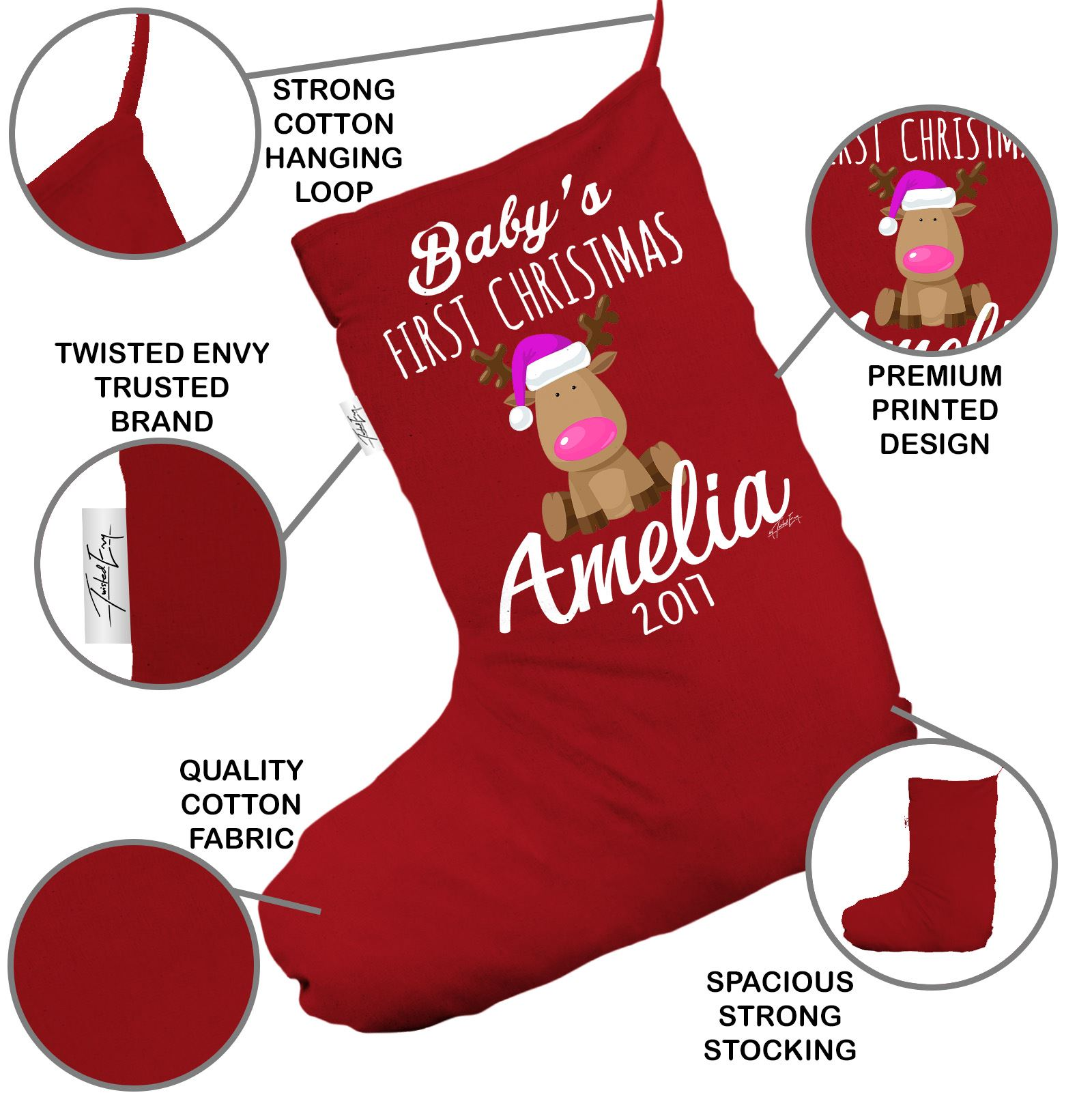 details about personalised christmas