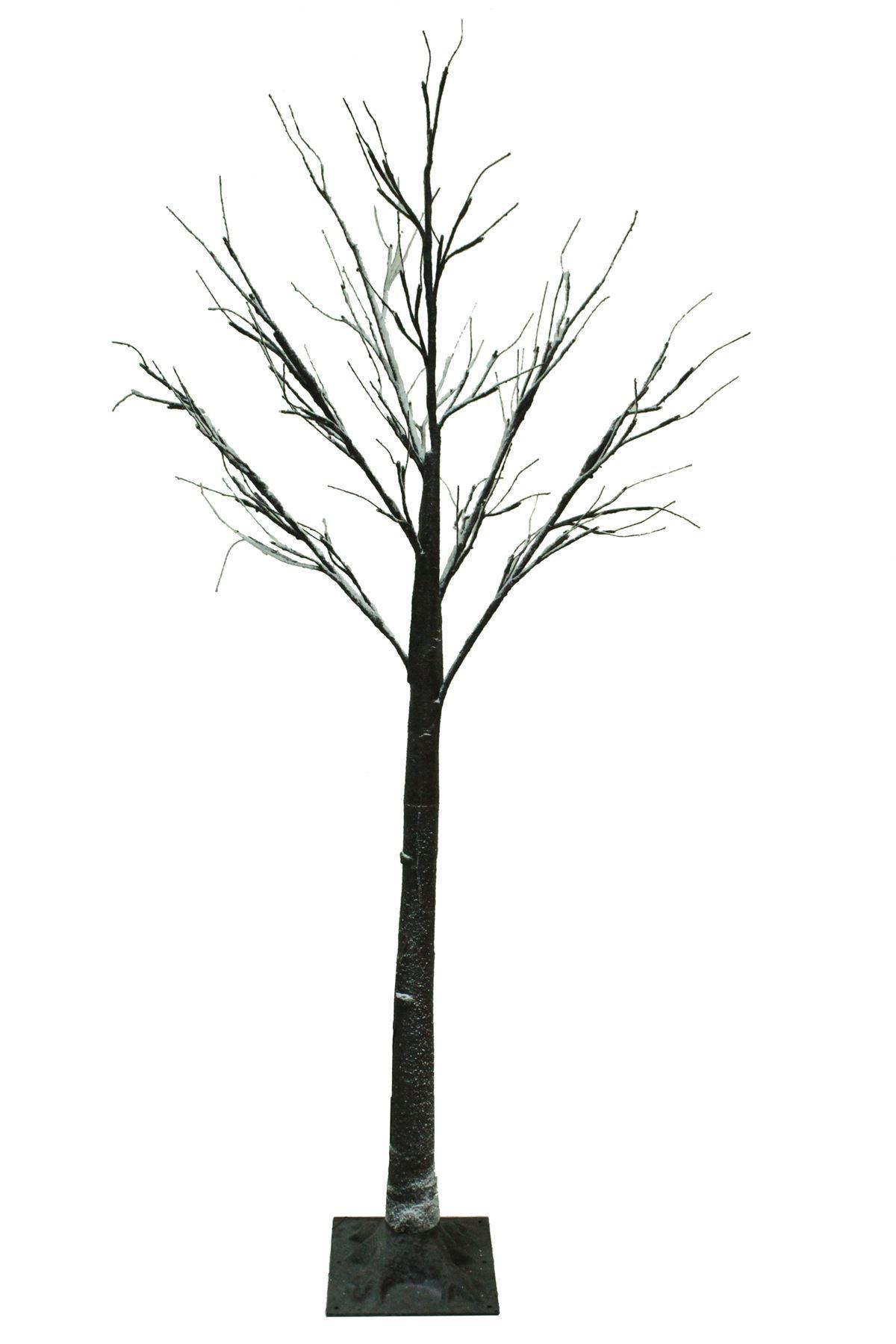 6ft Snowy Effect Warm White Twig Tree Pre Lit 120 Led Xmas
