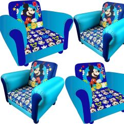 Mickey Mouse Recliner Chair Uk High Back Metal Dining Chairs Childrens Cartoon Kids Armchair Childs