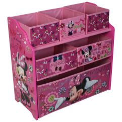 Minnie Mouse Upholstered Chair Canada Adirondack Footrest Disney Wooden Multi Bin Kids Toy Organiser
