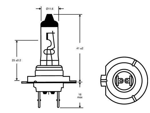 2x Lucas H7 477/499 +90% LightBooster Headlamp Bulb fits