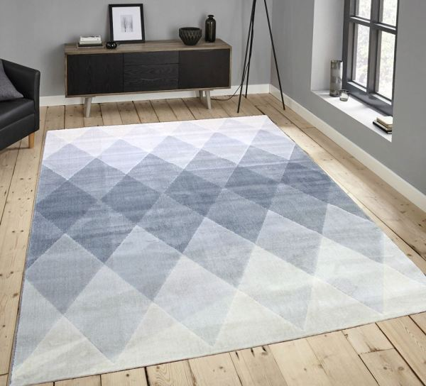 Gray and Cream Area Rug Large