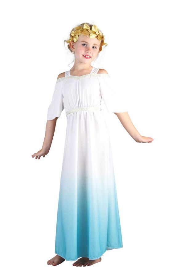 Girls Roman Greek Goddess Costume Toga Book Week Fancy