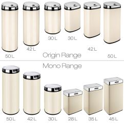 Kitchen Trash Can Dimensions Appliance Package Deals Dihl Rectangle And Round Automatic Waste Sensor Bins
