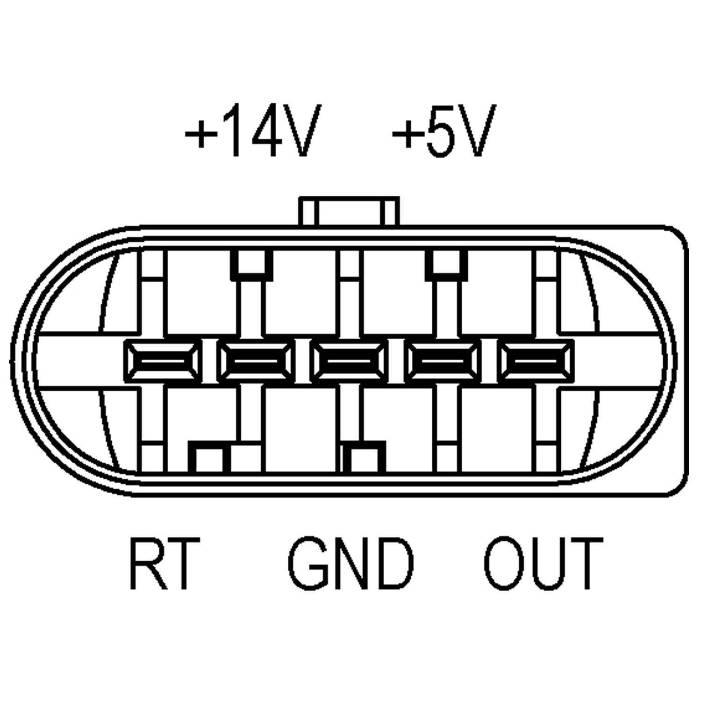 Mass Air Flow Sensor Maf For Audi A4 2 5 2 5l Tdi