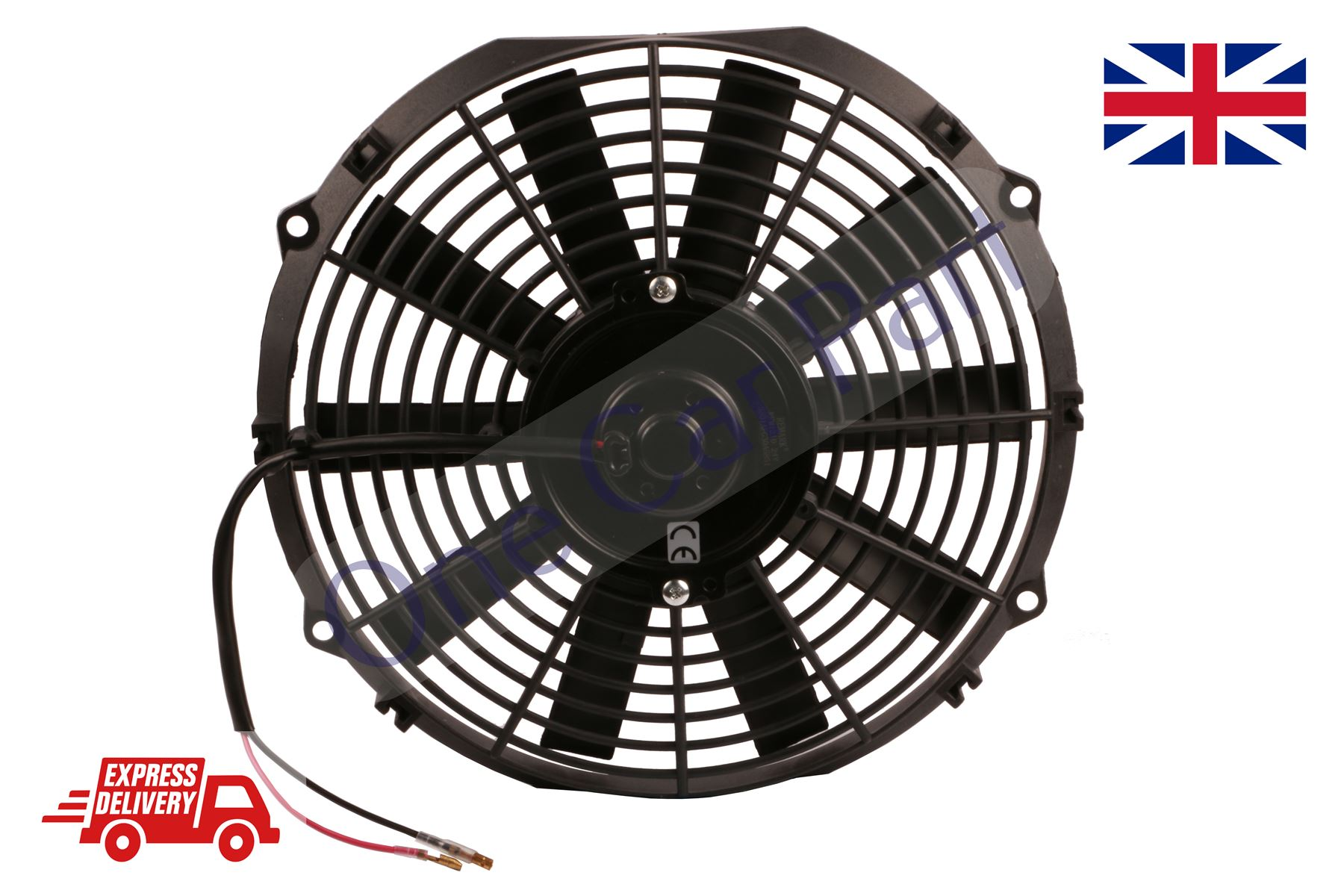 High Cfm Electric Curved S Blade 14quot Radiator Cooling Fan W Wiring