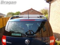 2009+ Skoda Yeti Roof Rack Rails Locking Cross Bars + T