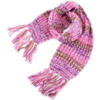 Wool Scarf Chunky Knit Tassels Long Knitted Warm Winter ...