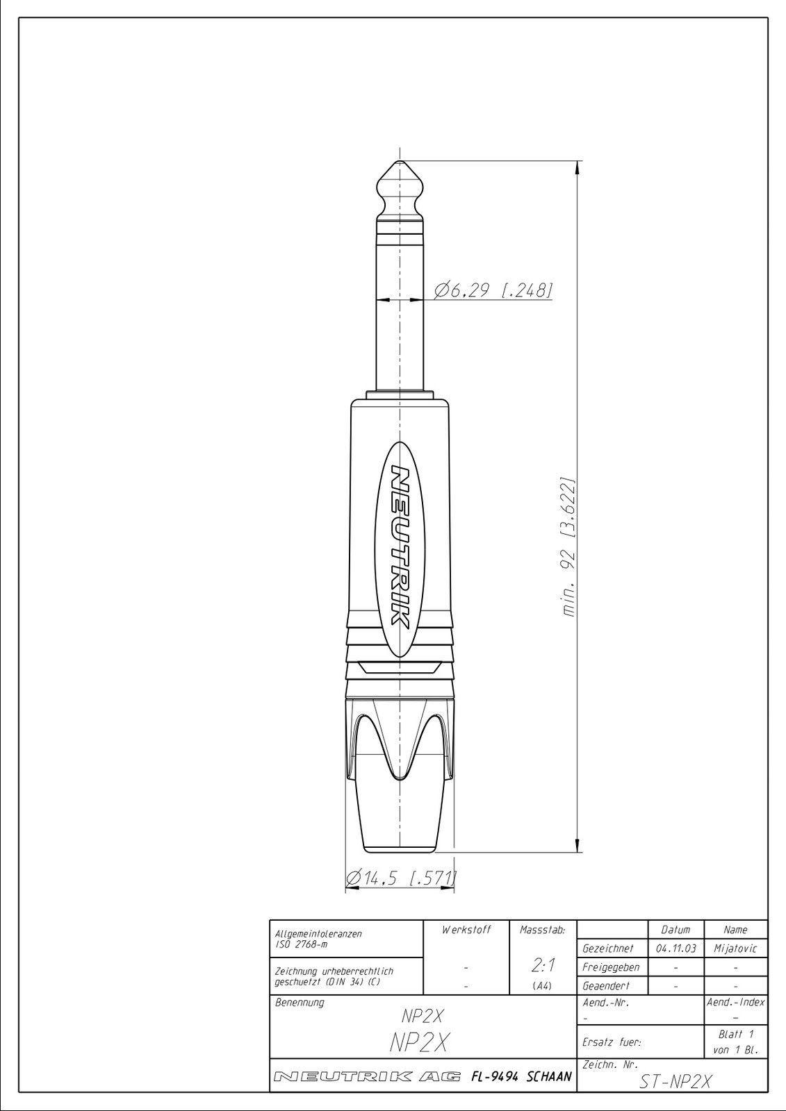Pro Y Splitter Insert Lead 1 4 6 35mm St Jack To Dual Mono