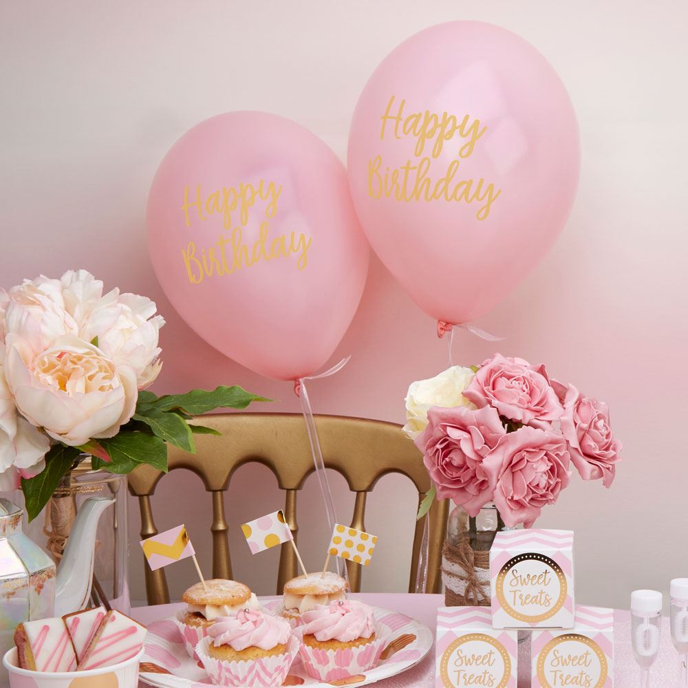Pattern Pink Baby Shower Girls Party Decorations