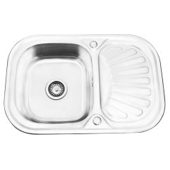 Round Kitchen Sink Small Portable Island New Stainless Steel And Waste Single 1 Bowl