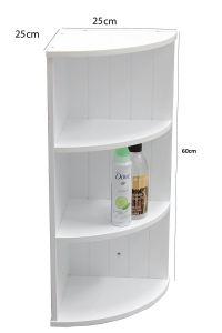 New White Wooden Bathroom Cabinet Shelf Furniture Cupboard ...