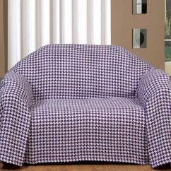 Xl Sofa Throws Designer Contemporary Beds Purple Houndstooth Check Large And Bed Throw Cotton Dogtooth Picture 2 Of 3