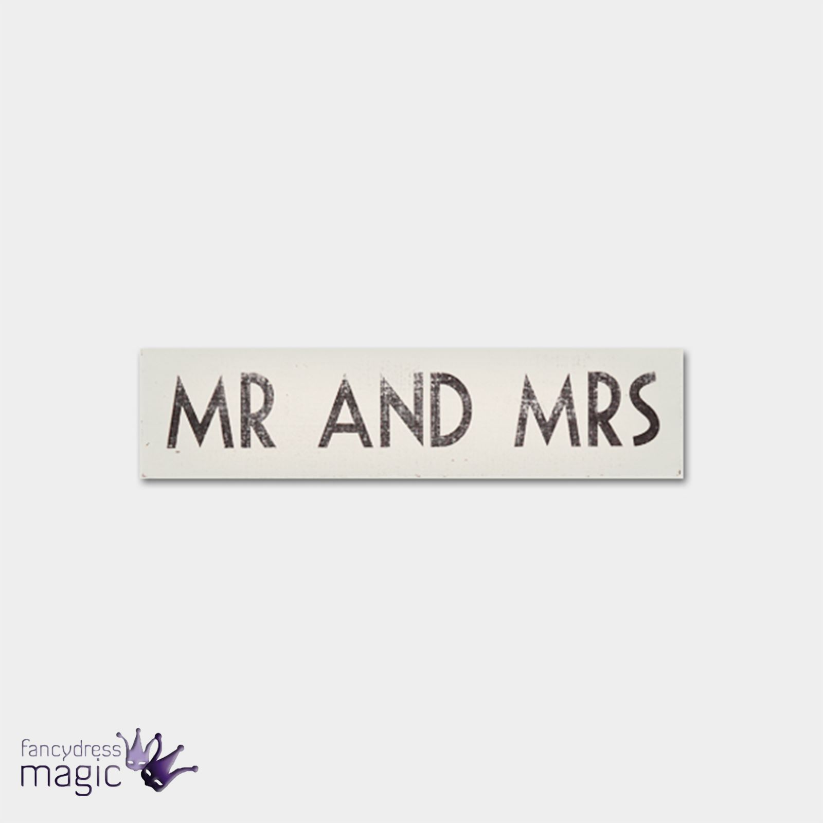 East Of India Wooden Shabby Chic Plaque Sign Mr And Mrs