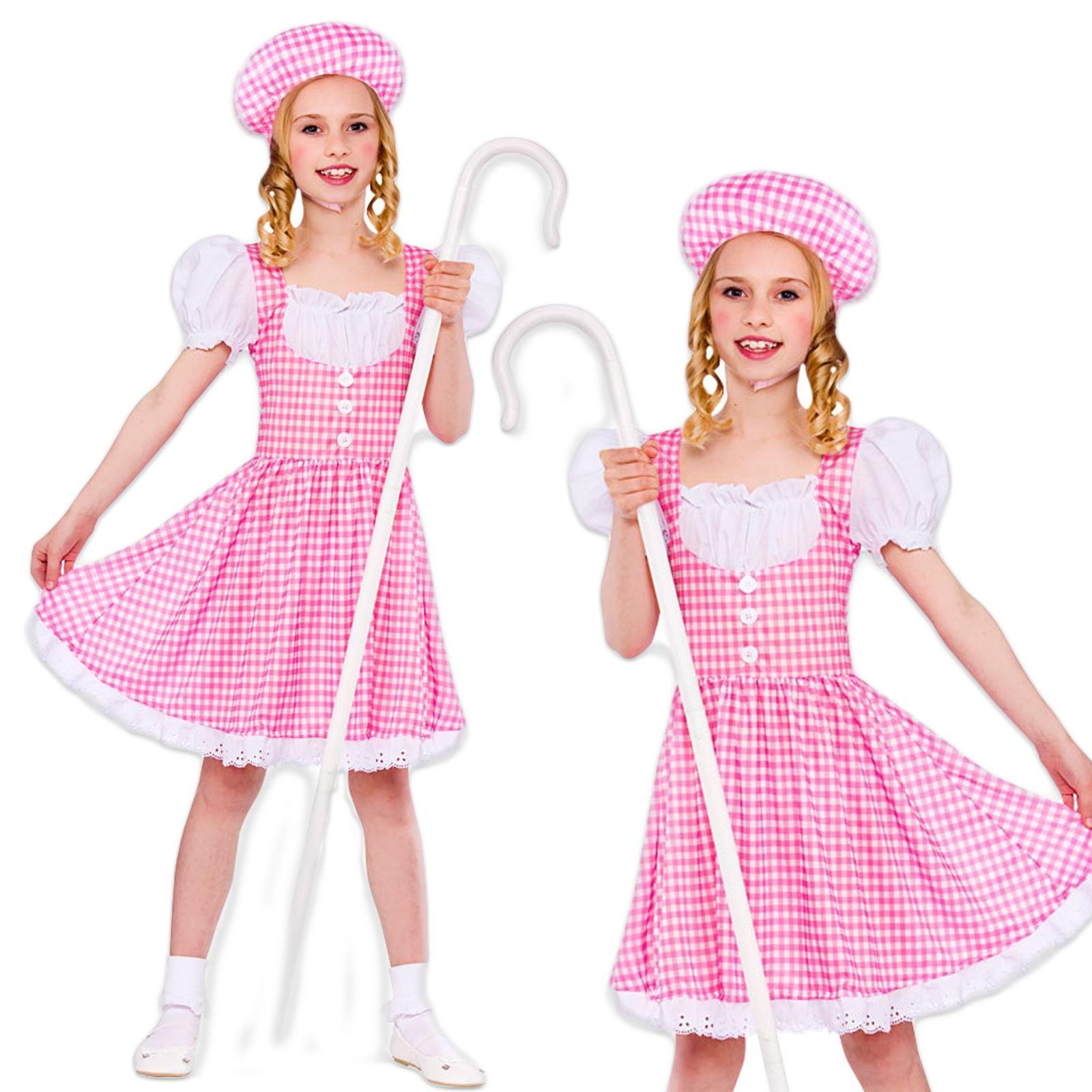 Little Bo Peep Book Week Girls Fancy Dress Costume