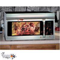 *Zombie Head Skull Horror Gory Halloween Microwave Door ...