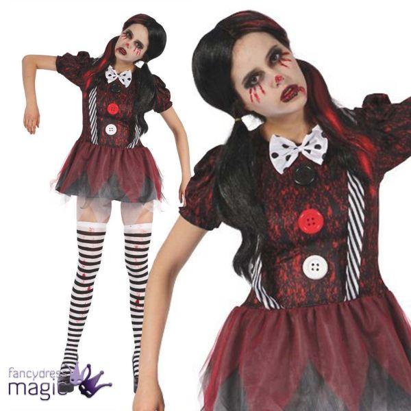Adults Ladies Creepy Rag Broken Doll Horror Halloween
