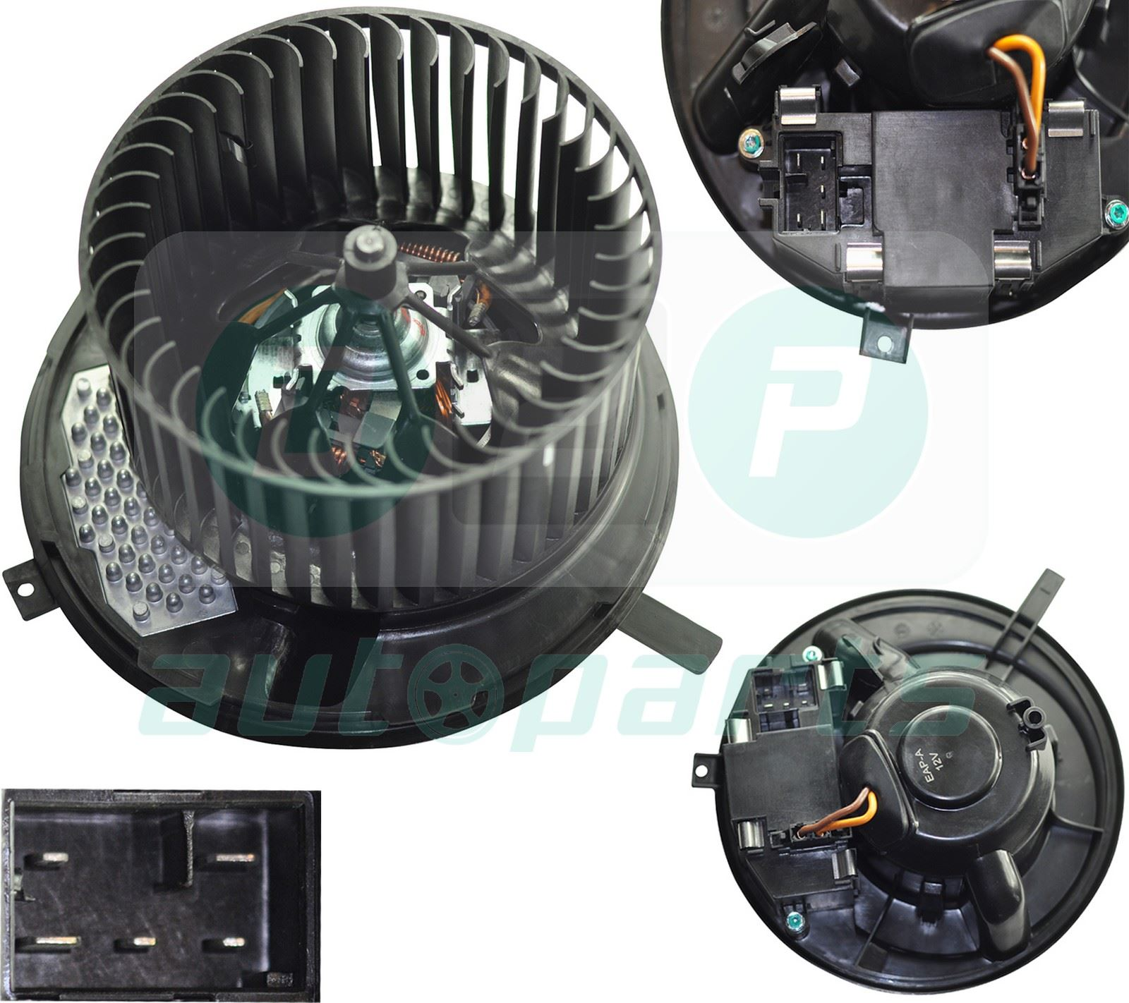 hight resolution of image is loading heater blower motor fan for audi a3 8p