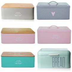 Kitchen Storage Boxes Island Designs Bread Holder Bin Box Vintage Design Home