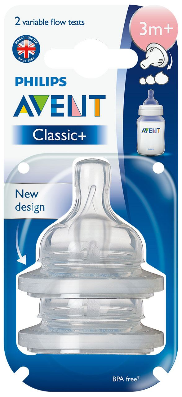 Avent Classic Silicone Teats Baby Bottle Feeding Accessory ...